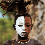 body art in the Omo valley.